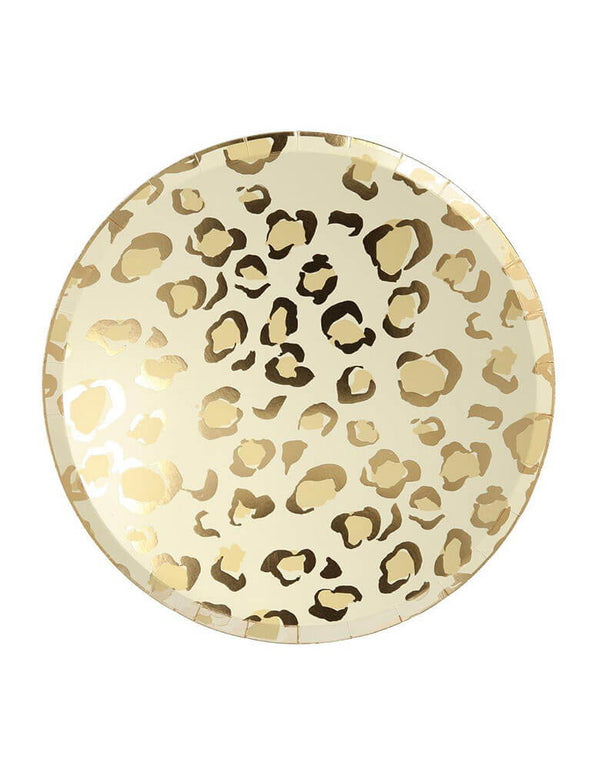 "Meri Meri 10.5"" Safari Animal Print Dinner Plates in Cheetah Print"