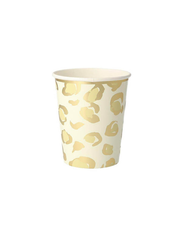 Meri Meri Safari Animal Print 9 oz Party Cup in Cheetah print design
