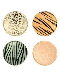 Meri Meri Safari Animal Print 8.25 inch Side Plates in 4 Designs