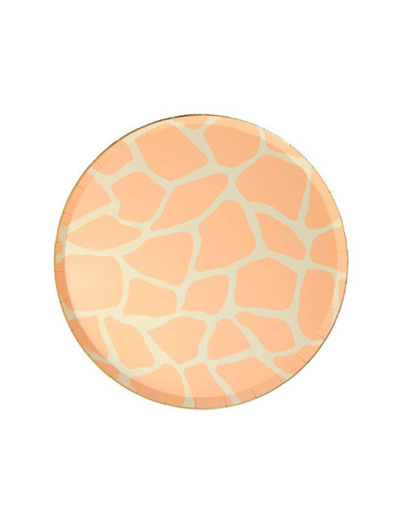 Meri Meri Safari Animal Print 8.25 inch Side Plates in Giraffe Print Design