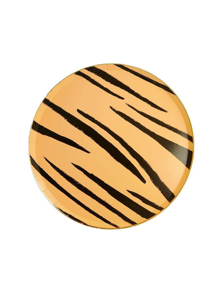 Meri Meri Safari Animal Print 8.25 inch Side Plates in Tiger Stripes Design