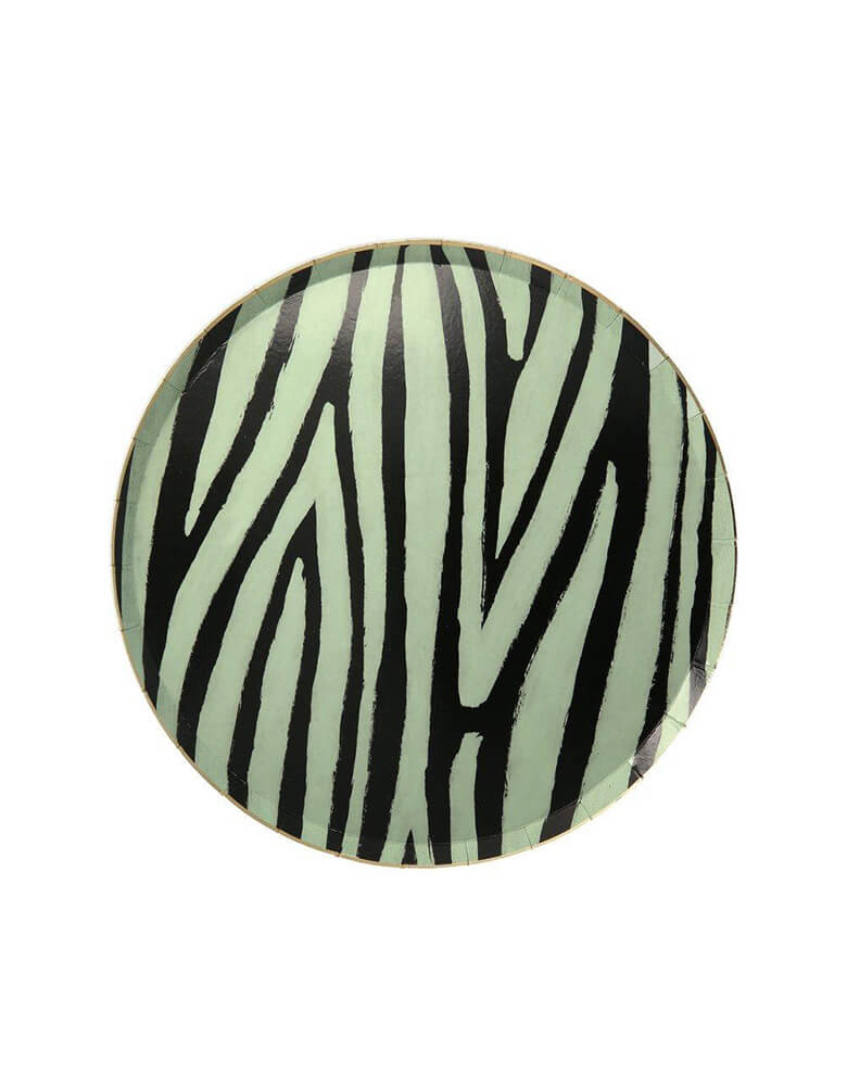 Meri Meri Safari Animal Print 8.25 inch Side Plates in Zebra Stripes Design