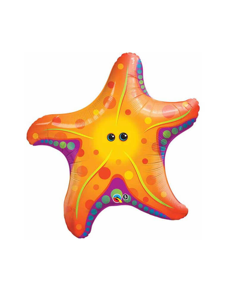 30 inch Super Sea Star Jumbo Foil Balloon