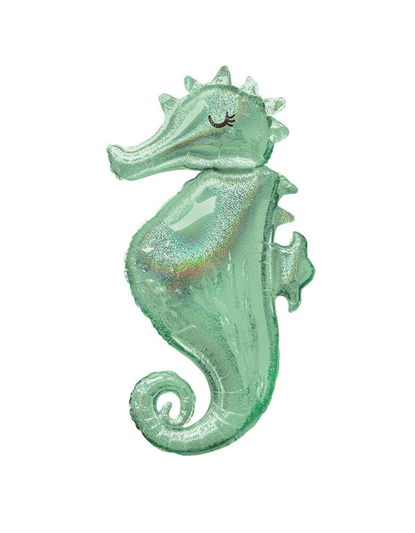 38 inch Seahorse Holographic Foil Balloon