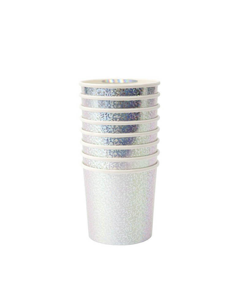 Silver Sparkle Tumbler Cups (Set of 8)