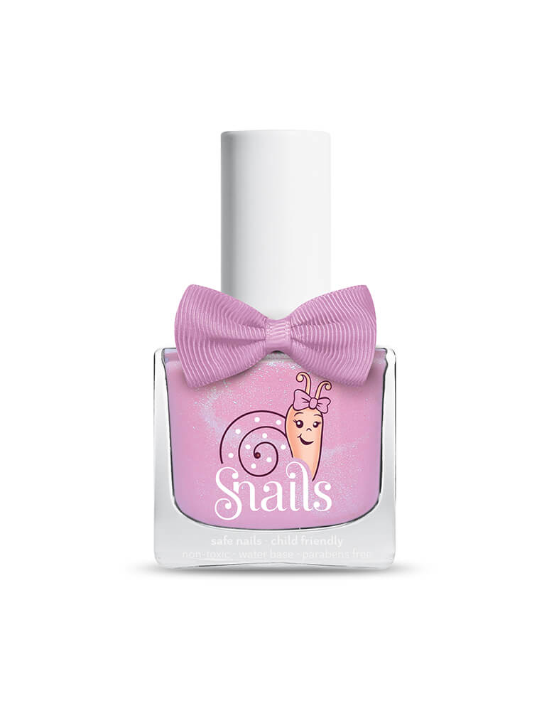 Snails Washable Nail Polish in Candy Floss color. Snails is an odorless, water-based, washable nail polish for kids of all ages