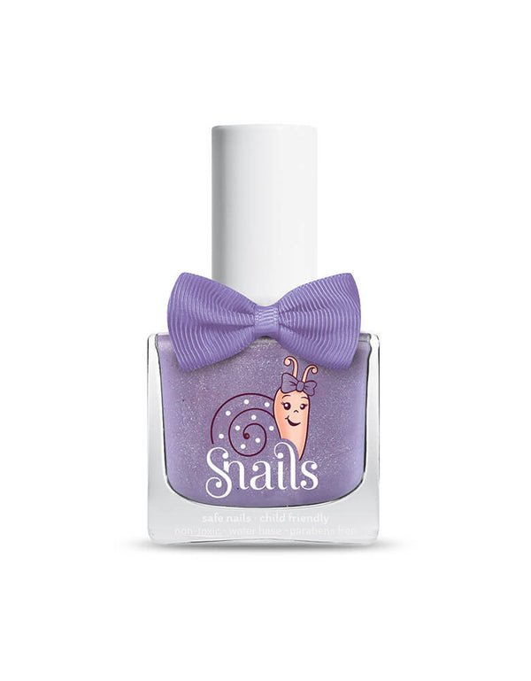 Snails Washable Nail Polish - Purple comet. Snails is an odorless, water-based, washable nail polish for kids of all ages