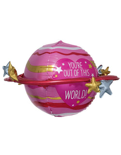 "Anagram Pink Out of This World 29"" Foil Balloon"