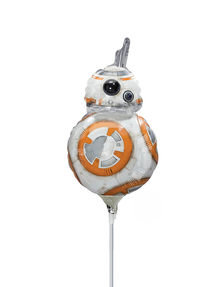 Anagram Star Wars BB8 Air-filled only Mini Foil Balloon with a stick