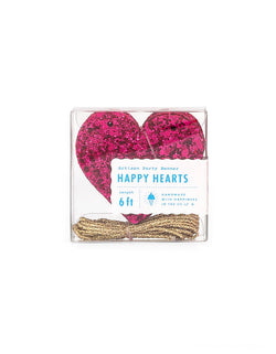 Studio-Pep Happy Hearts Banner in Wildberry Glitter. This glittered heart sharped banner in adorable wildberry color is simply gorgeous! It's hand-pressed and is cut from high quality, neon-edge vinyl. It's perfect for decorating your mantle or the little one's shelves in the playroom!