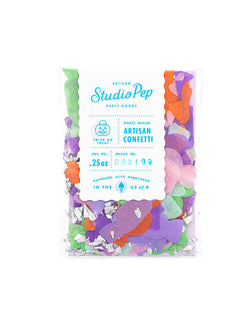 Studio Pep Trick or Treat Artisan candy shaped Confetti Mini Bag in mint, apple green, lavender pink and orange colors