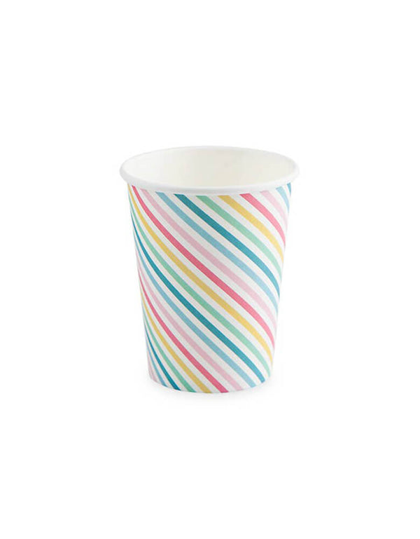 Cakewalk 9 oz Sugar & Striped Party Cups