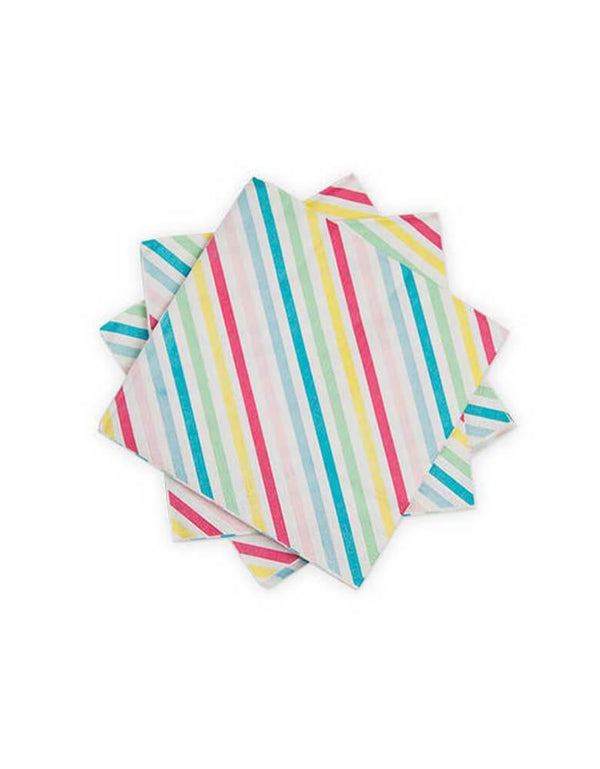 Cakewalk Sugar & Striped Multicolor Napkins