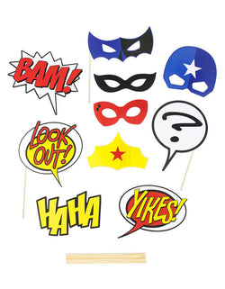 Superhero Party Activity Comic Action Photo Props