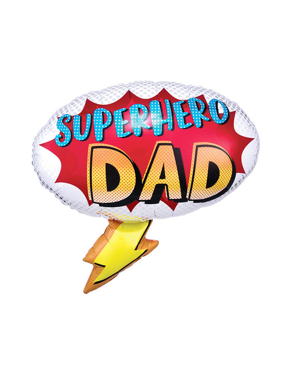 Anagram Balloons - 39323 Superhero Dad SuperShape foil balloon. This 27 inches Superhero Dad Shaped Foil Balloon are prefect for Father's day's celebration or Birthday for Dad.