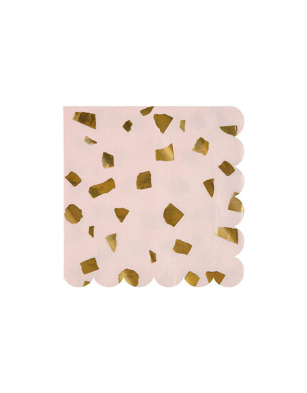 Meri Meri 6.5 inches Terrazzo Blush Large Napkins Set of 16
