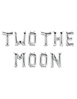 Two The Moon Mylar Balloon Set_Spelled out for a 2nd birthday Space themed Party
