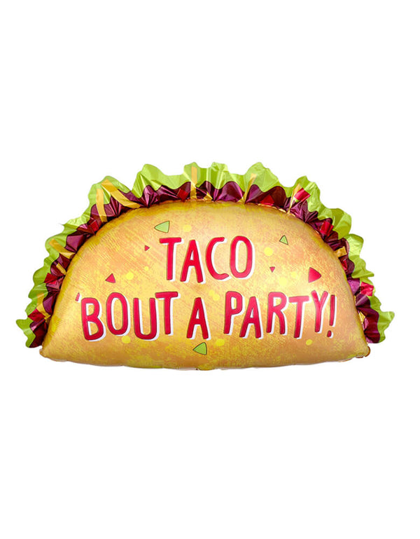 Anagram Taco 'Bout A Party Shape Foil Mylar Balloon