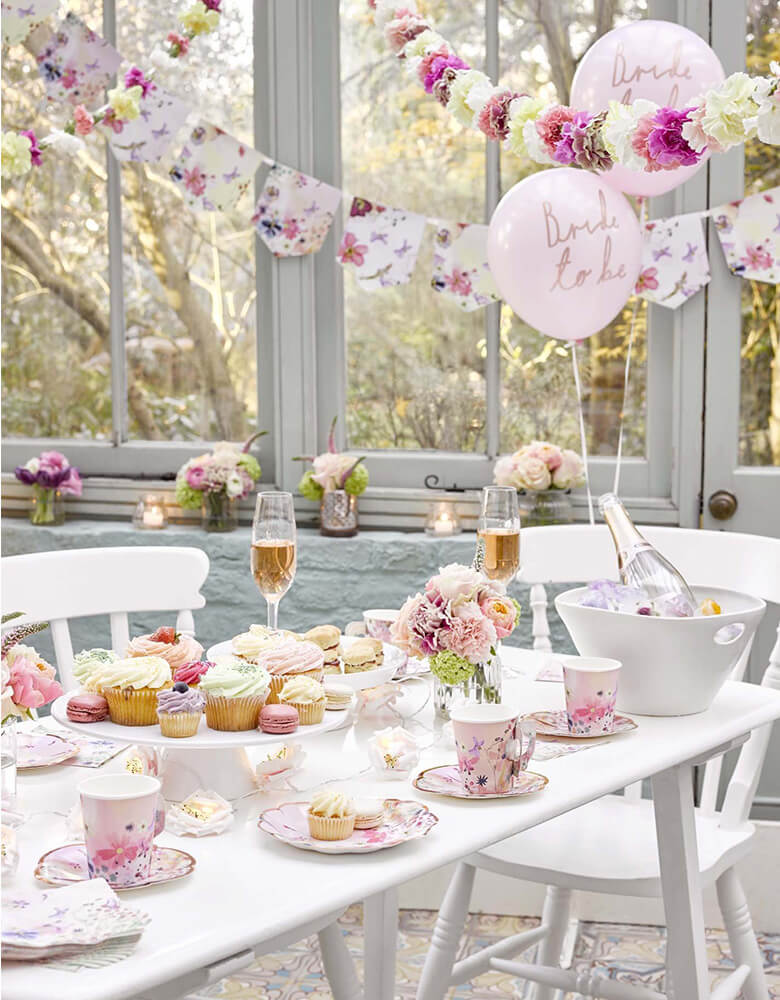 Talking Tables Blossom Girls Party Supplies in a beautiful bridal shower