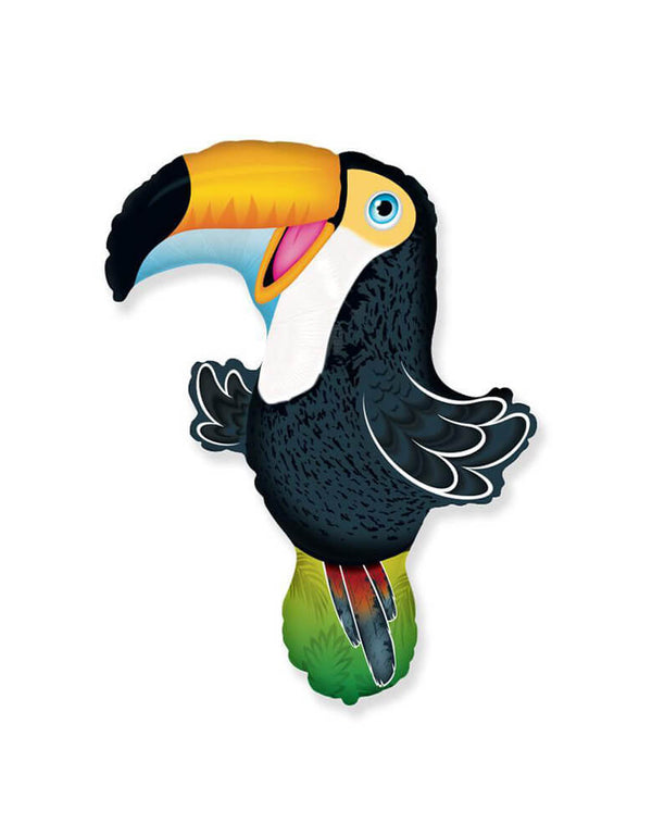 "LA Balloons 30"" Toucan Foil Mylar Balloon for a tropical or jungle themed party"