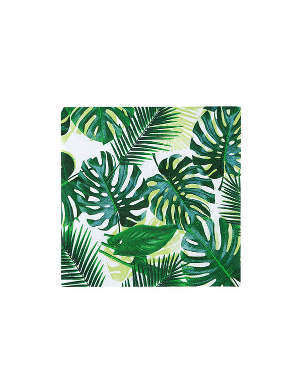 Talking Tables - Tropical Fiesta Palm Leaf Small Napkins