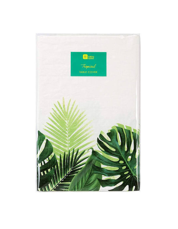 Talking Tables Tropical Fiesta Palm Leaf Table Cover in package