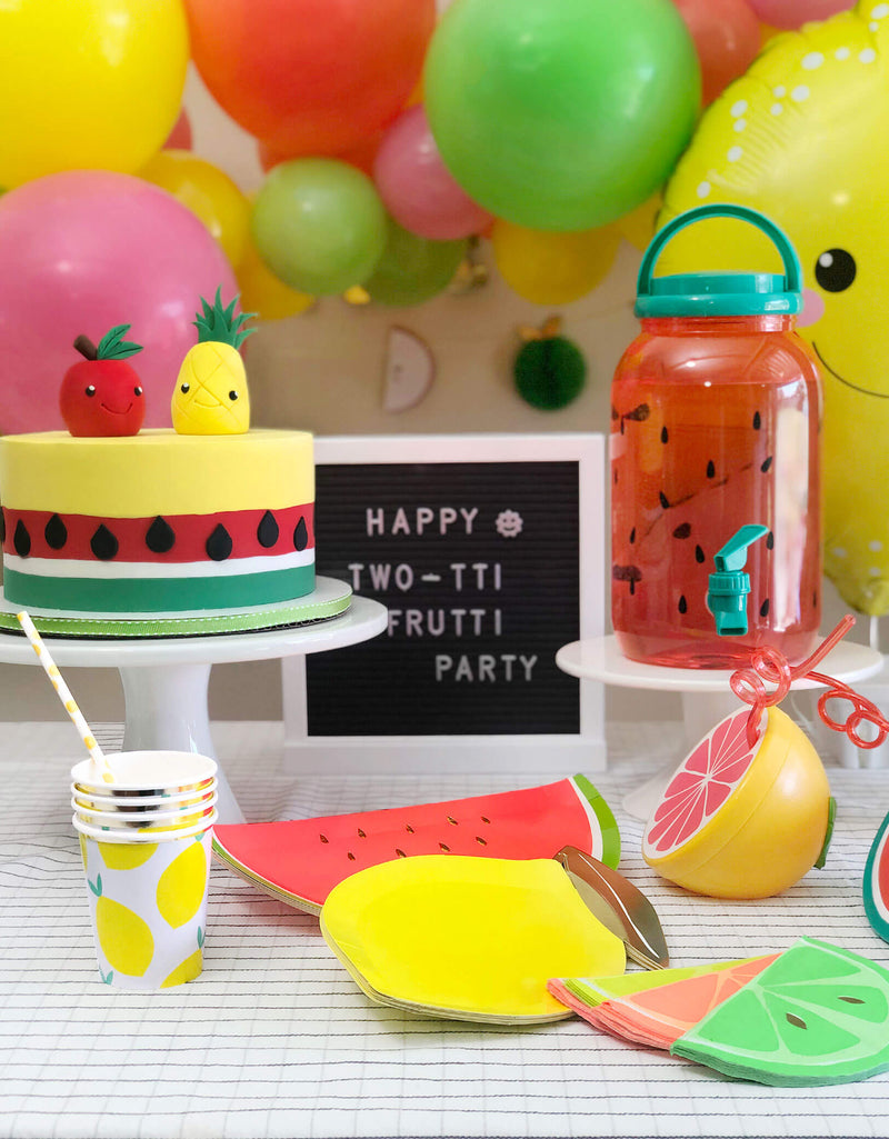 Summer Fruit theme birthday table set up idea and inspiration