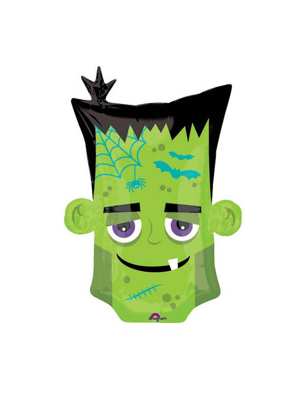 "Anagram Balloons 25"" FRANKENSTEIN Two-sided Monster Head Foil Balloon for a Halloween Party"