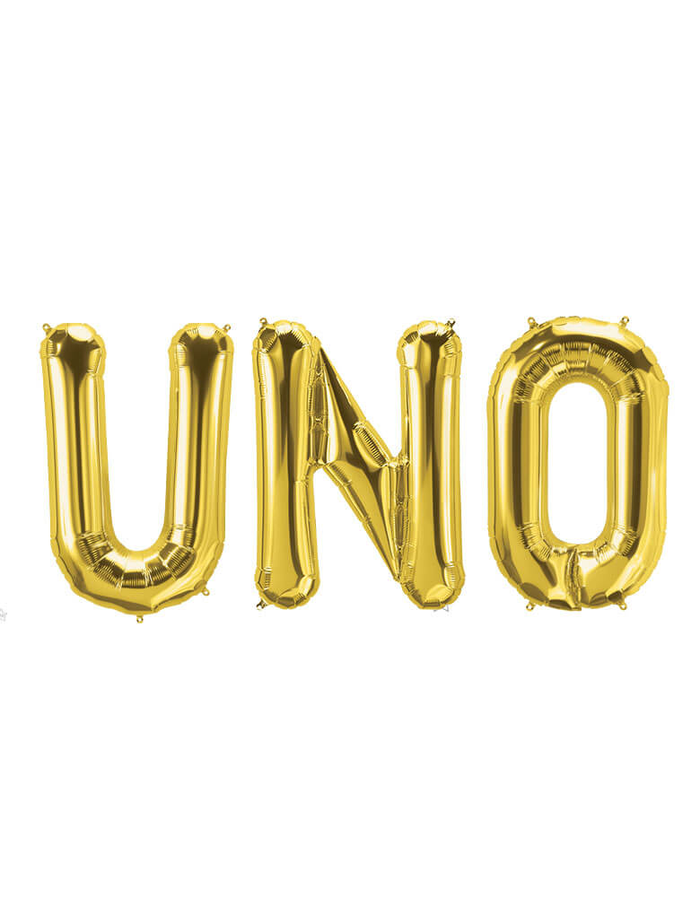 Northstar Balloons UNO Gold Foil Balloon Set for a First Fiesta