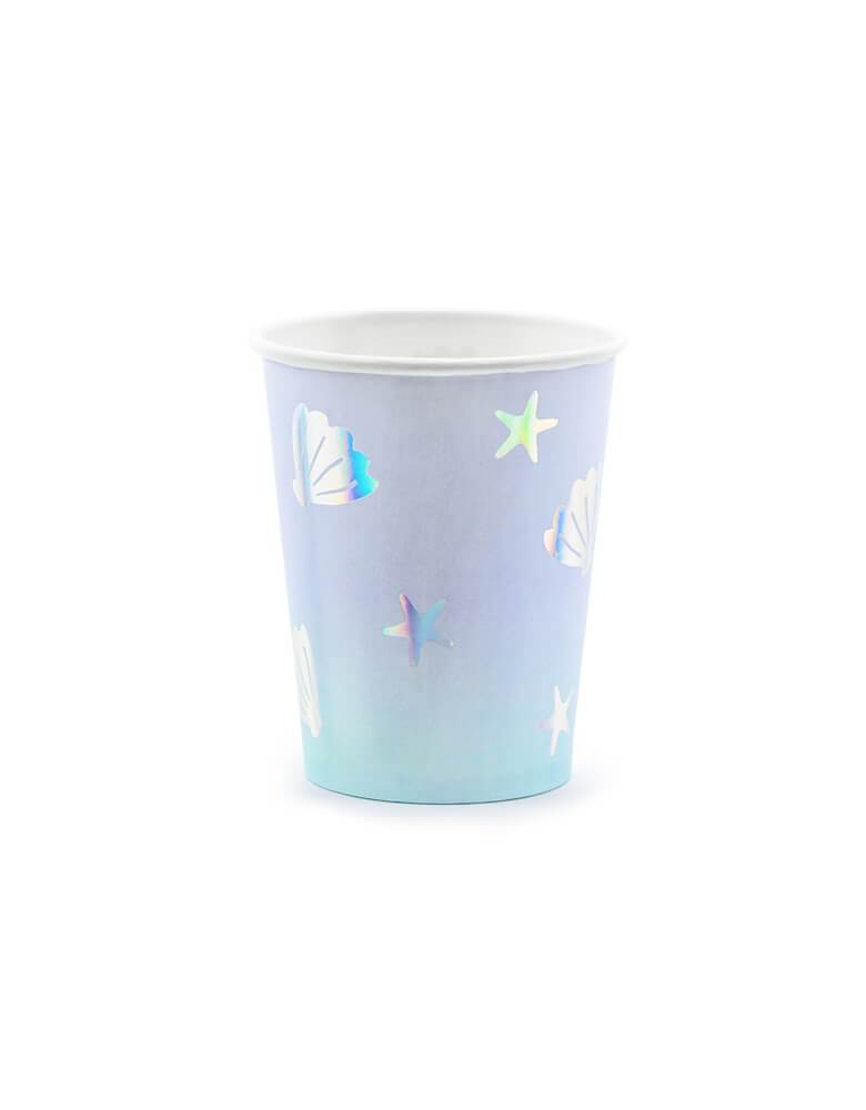 Party Deco 7.4 oz Under The Sea Ombre Cups