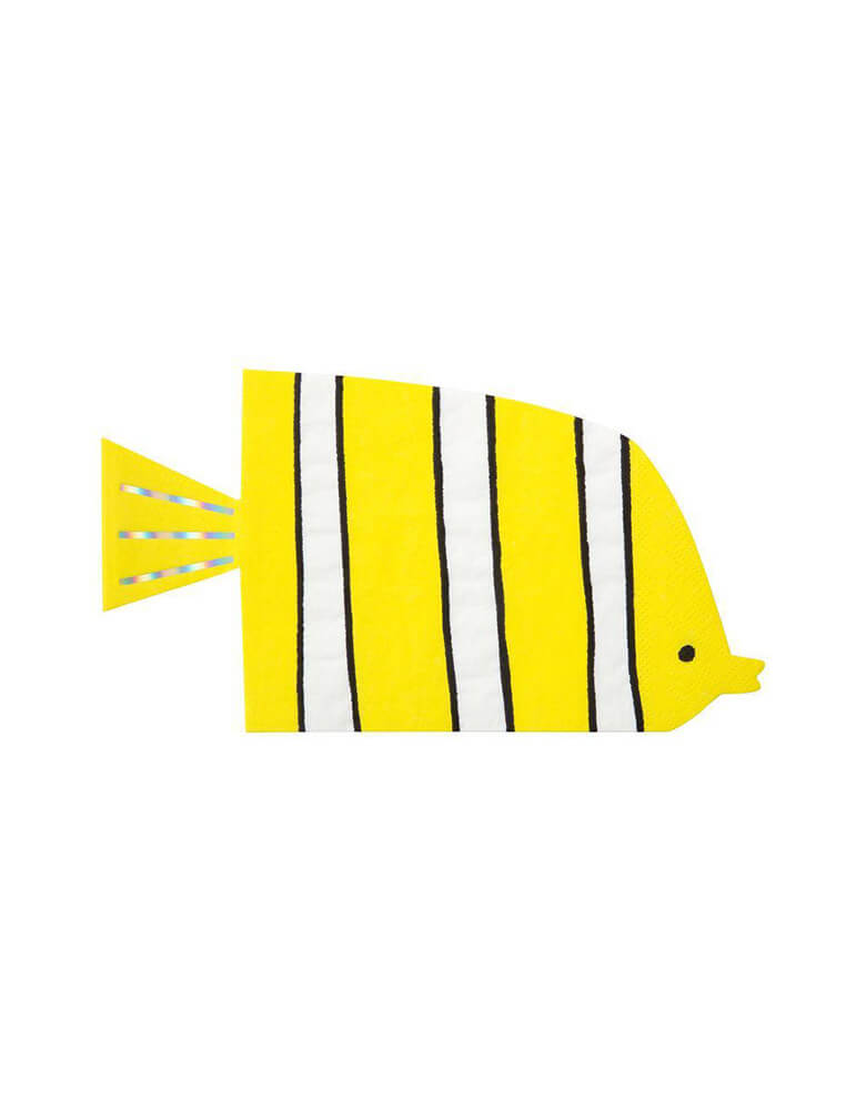 Meri Meri Under The Sea Yellow Fish Napkins