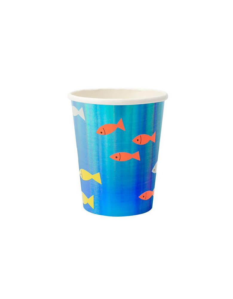 Meri Meri Under The Sea fish blue paper Cups