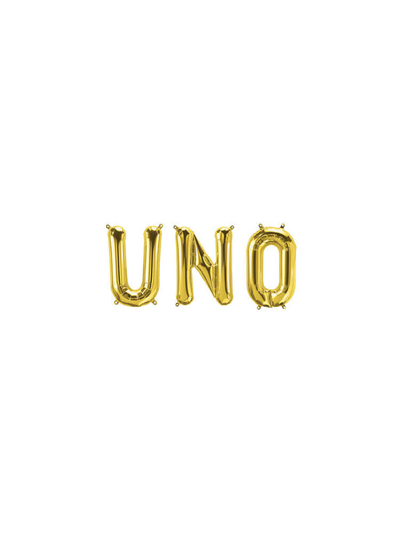 UNO Gold Mylar Balloon Set