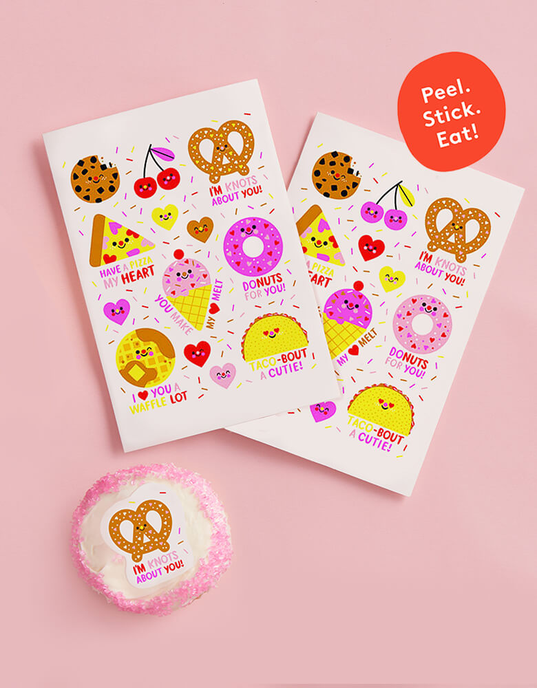 Your Love Is Sweet & Salty Valentine's Edible Decorating Stickers