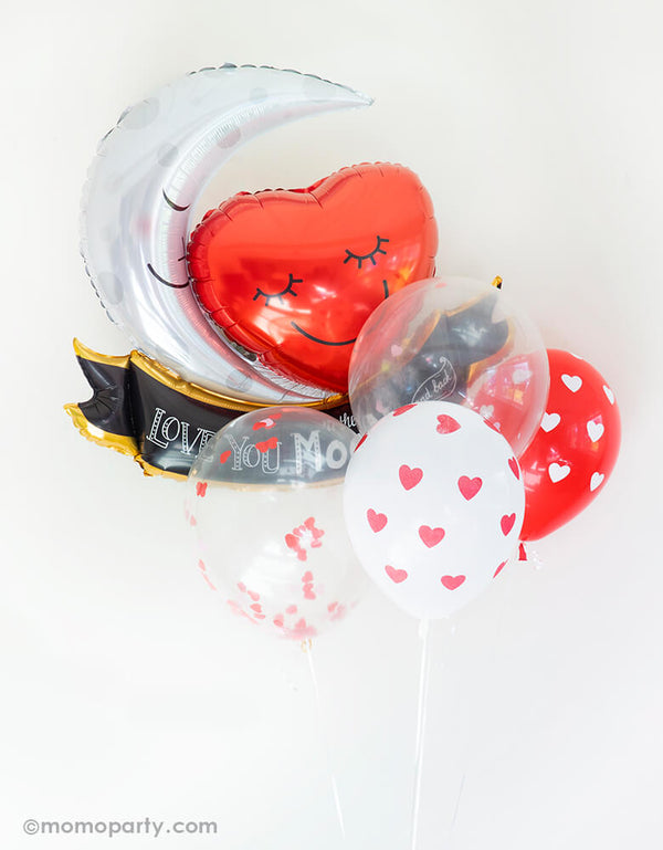 Heart Shaped Confetti Balloon Mix (Set of 5)