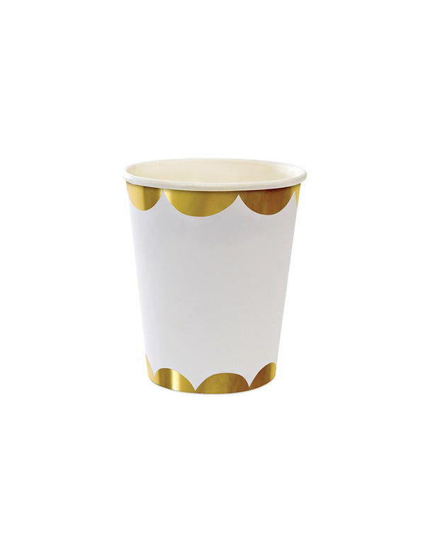 Gold Scallop Cups (Set of 8)