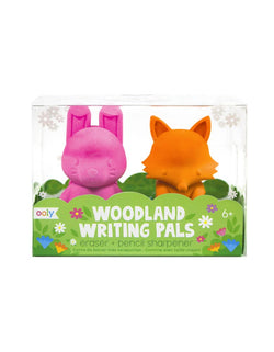 Ooly - Woodland Writing Pals - Erasers & Pencil Sharpener - Set of 2