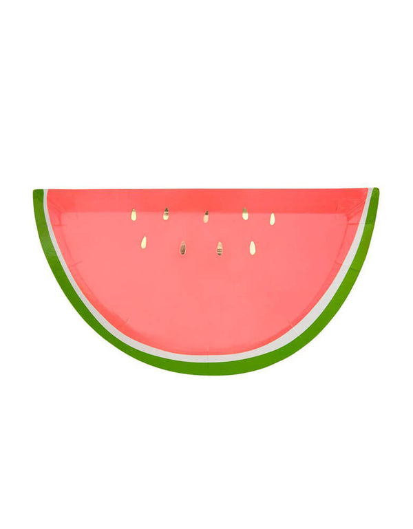 Meri Meri_Watermelon_Party Plates_for Fruit Theme Birthday Party