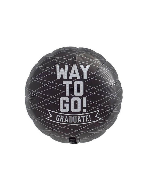 "Northstar Balloons - Way To Go Graduate Foil Mylar Balloon. 18 inches black foil balloon with mordden typeface of ""Way to go! Graduate?"" . Celebrate the grad's success with this modern ""Way to go!"" black foil balloon!"