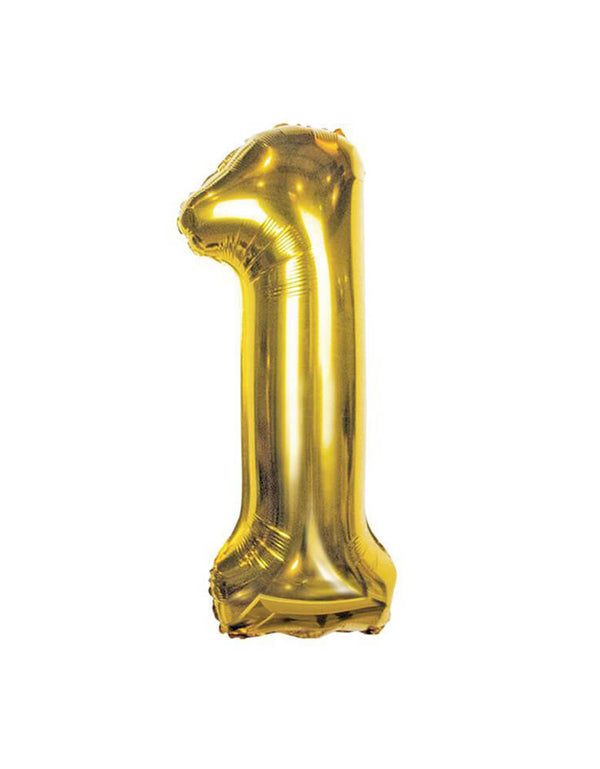 Large Number Gold Foil Mylar Balloon
