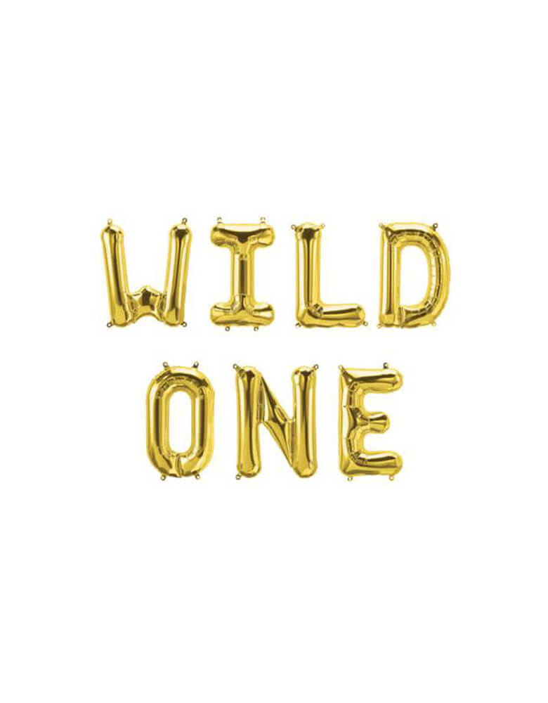 Wild One Foil Mylar Balloon Set_1st Birthday Ideas