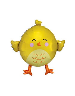 "Anagram_28"" Yellow-Chick-Foil-Mylar-Balloon"