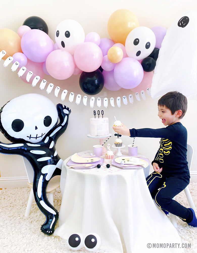 Halloween Skeleton Foil Mylar Balloon