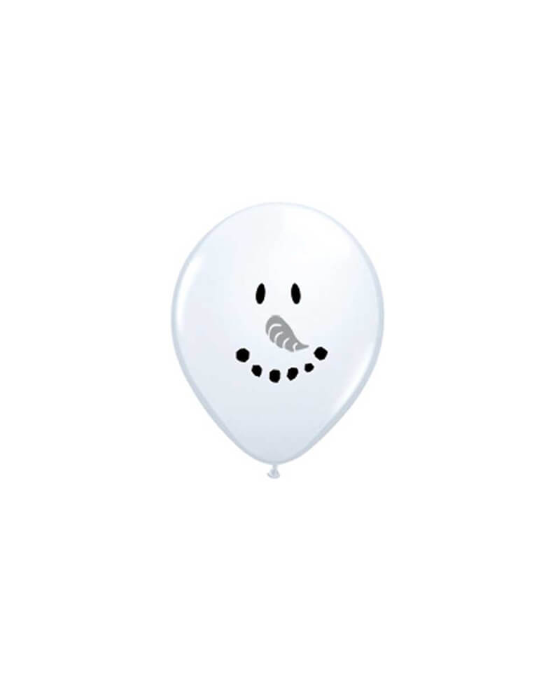 Qualatex Balloons 5inch Snowman Face Latex Balloon Mix, Add them onto your balloon cloud to delight your guests at your Holiday gathering!