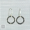 $22 - Simple Circle Earrings- Hammered