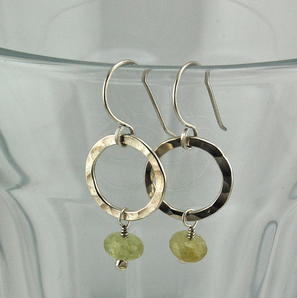$29 - Shimmering Chartreuse Earrings