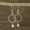 $29 - Golden Pearl Hoops