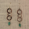 $33 - Turquoise Chain Earrings