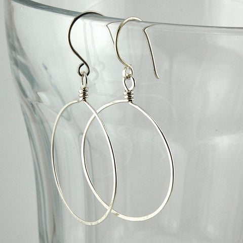 $25 - Simply Twisted Hoops - Silver - Large