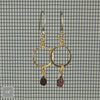 $29 - Golden Garnet Hoops